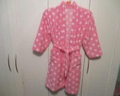 OOAK Pink Heart Girls Housecoat