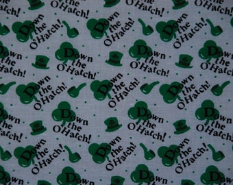 Down the O'Hatch St. Patrick's Day Fabric 2+Yards
