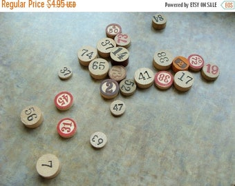 ONSALE One Dozen Antique Vintage and New wooden Game markers