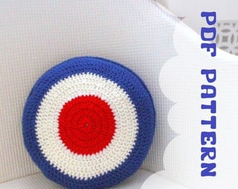 Mod Target Cushion Cover - A Crochet Pattern - PDF - Instant Download - CHART - Mod Target -Crochet Amigurumi Stuff Plush Cover