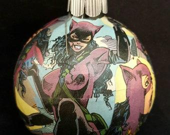 Catwoman Christmas Ornament, Catwoman Ornament, Comic book Ornament, Superhero Ormament, Comic Christmas, Catwoman Decor, Comic Book Decor