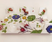 Canasta Revolving Tray Botanical Floral