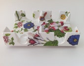 Canasta Card Tray with Flowers