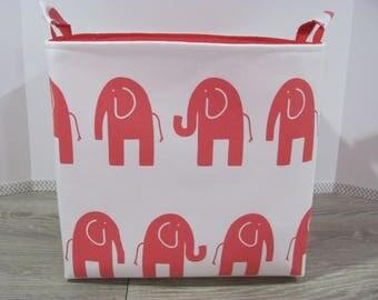 """XL Tall - Fabric Storage Basket - 12""""x12""""x12"""" - Storage Bin - Laundry Basket - Toy Bucket - Organizer Bin - Baby Gift - Nursery Decor - Ele"""