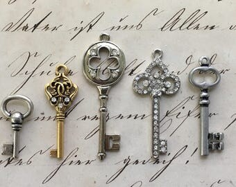 Key Charm Pendants