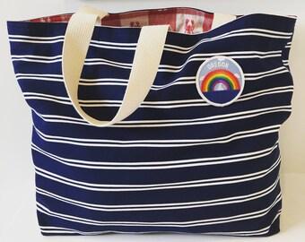 Coastal Tote Bag/ Beach Bag/ Market Tote