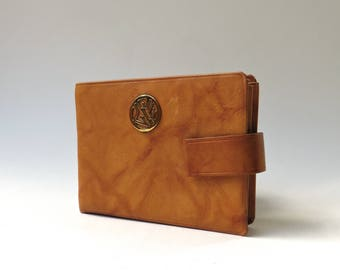 60s Vintage Buxton Rust Orange Striated Leather Wallet NOS / Deadstock Buxton Leather Wallet / Buxton Convertible Wallet
