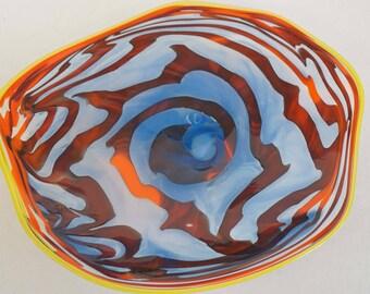 Wall Art Glass Blown Platter 658