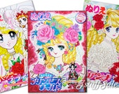 Set of 3 - Japanese coloring books - Super high quality!