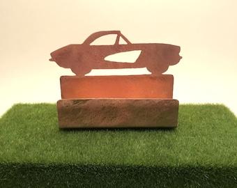 Vintage Car Corvette Stingray Business Card Holder Antique Car Desk Accessory Antique Chevy Car Classic Car lover desk accessories