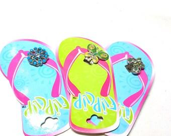 3 New Flip Clip Jewelry Shoe Clips for Flip flops 2 Butterfly