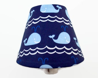 Whale Night Light - Nautical Nursery Night Light - Blue Nautical Whale Bedroom - Whales Bathroom Nightlight - Whale Nursery - Blue Navy Room