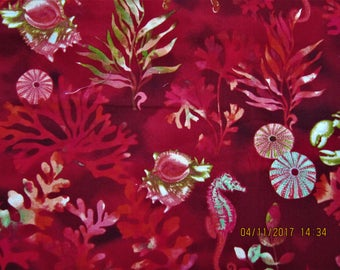 UNDERWATER FISH FABRIC By the Sea - Elizabeth Isles for StudioE Fabric  1 Yard - KR16