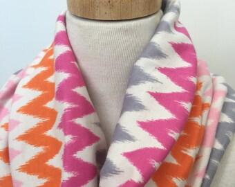 Chevron Infinity Scarf cotton jersey circle scarf