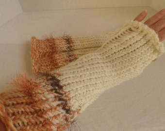 handknit fingerless GLOVES, Arm warmers, boot toppers