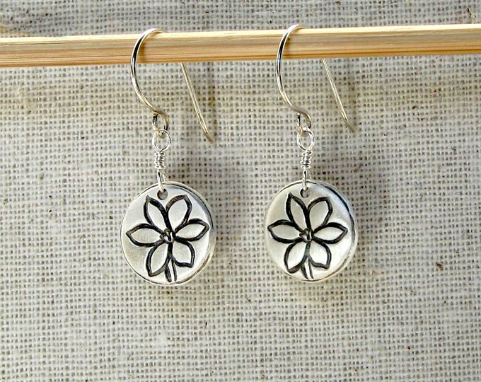 Blue Eyed Grass Earrings