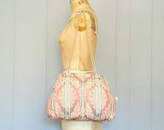 Large Tapestry Bag / pink / 1980s vintage