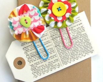 Planner Clips / Planner Clip Set / Handmade / Flower Paper Clips / Planner Accessories / Journal Clips / Filofax Clips / Bookmarker Set
