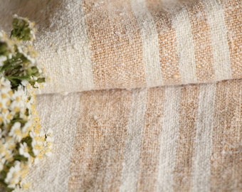 PB 726: antique handloomed HAZELNUT BROWN chunky; 44.88 inches long; 리넨 , grainsack for pillows cushions runners