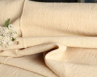 P 496 antique hemp linen decorative PLAIN ; PALE CREAMY 10.38yards upholstery 25.59 wide  handloomed benchcushion
