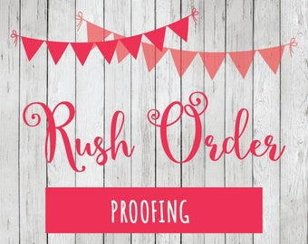 Rush Proofing - 24 Hour Proof Delivery Add On for Premade Logos, Personalized Stickers or Personalized Tags