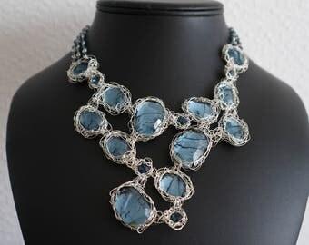 Silver Necklace Montana Divine Rock Bib - Sterling Silver