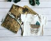 Vintage Style Cotton Bodysuit 3/6 month