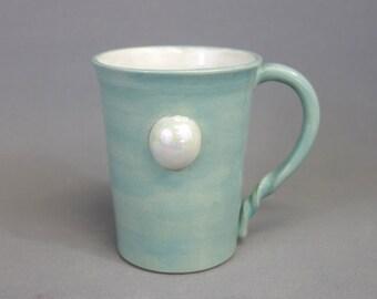 Seconds SALE - Pearl Mug: Crystal Gem Inspired Steven Universe Ceramic Coffee Mug