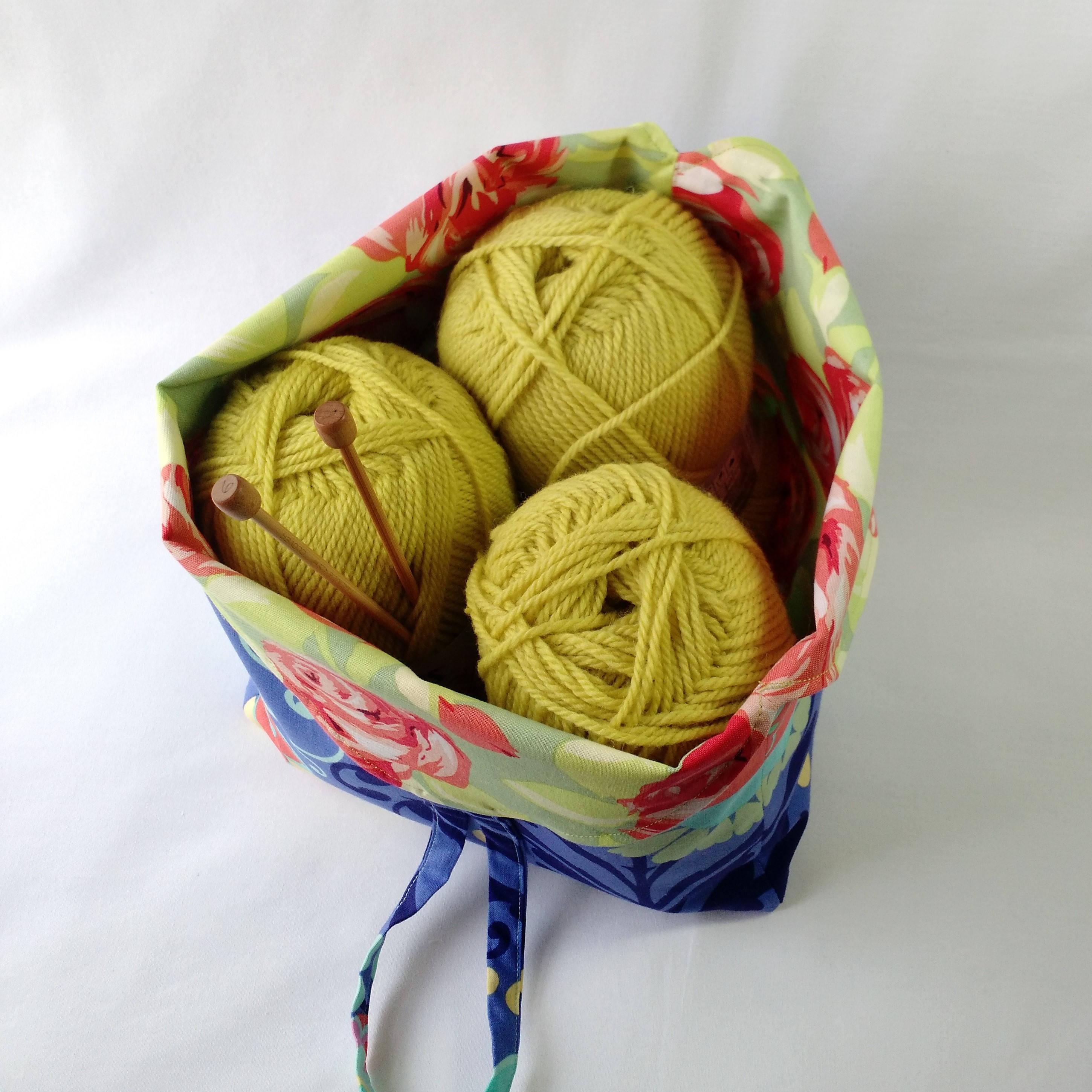 Amy Butler Knitting Bag Pattern : Project Bag crochet knitting amigurumi WIP - yarn holder ...