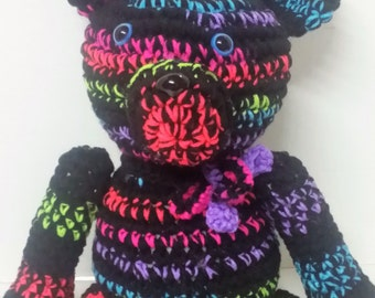 Teddy Bear/Neon Teddy Bear/Plush Teddy Bear/Unique Teddy Bear/Stuffed Animal/Stuffed Teddy Bear/Amigurumi/Soft Toy/Plush Toy/Moveable Limbs