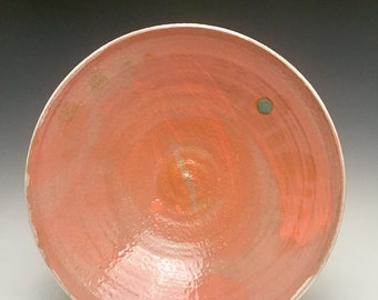 Bright Orange Sky With Sun Dot; Serving Bowl; Modern Tropical Design; Functional Fine Art; Island Style