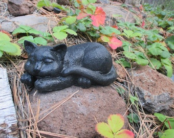 Concrete Cat Garden Statue