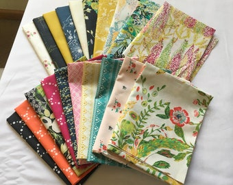 Mille Fleur Fat Quarter Bundle Out of Print Art Gallery Modern Contemporary Floral Quilting Sewing piecesofpine