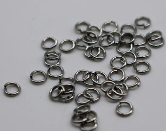 Jump RINGS 100 pcs of STAINLESS Steel Jump Rings Link Surgical Jumprings 3mm 24G 24 Gauge 0.5mm Bracelet Wholesale Jump Rings Bulk Jumprings