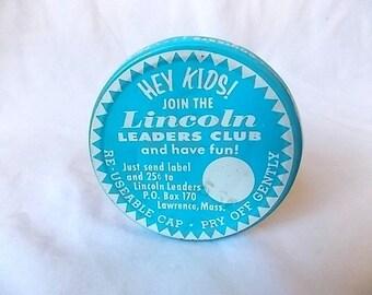 Vintage Travelrama Swanky Swig Tumbler w Lid Lincoln Kids Club