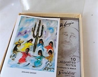 10 Vintage DeGrazia Blank Note Cards SW Indian & Mexican Children