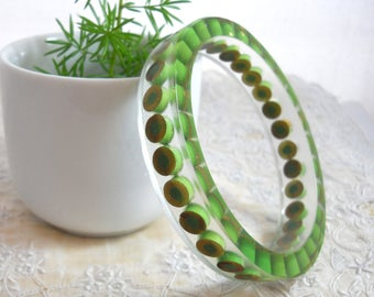 Resin Bracelet, Bangle Bracelet, Resin Jewelry, Colored Pencil, Teacher Gift, Eco Friendly, Upcycled, Artist, Crafter, Gift, Pine, Green