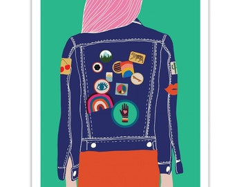 Denim // Denim Jacket // Patches // Peace & Love // Retro // Seventies // 70s