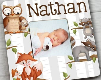 Woodland Forest Critters Friends Bedroom Photo PICTURE FRAME for Kids Bedroom Baby Nursery Pf0099