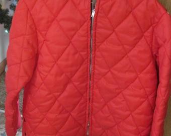 Very Retro Montgomery Wards Vintage Red Ski Jacket Coat Medium