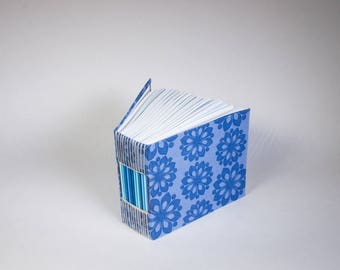 Bitty Mini Blank Book with a Page for Every Day of the Year in Blue