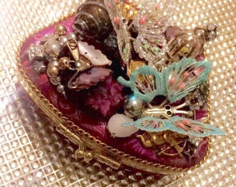 Butterflies  Angels and Flowers Jewelry Box Clutch