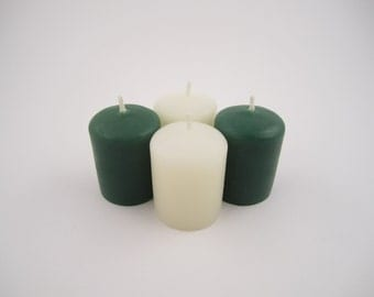 Set of 4 St. Patrick's Day Beeswax Votive Candles