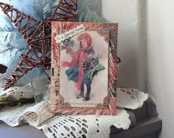 Nana Christmas Card - Handmade Card Nana - Winter Card Nana