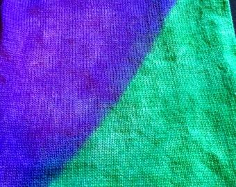 "Flat Feet Sock Blanks, Hand Painted Sock Yarn ""African Violets"""