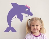 Jumping Dolphin Wall Decal Under the Sea Ocean Baby Nursery Kids Room Decor