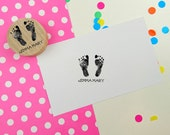 Baby or child foot or hand print custom stamp - personalized rubber stamp - footprint - custom rubber stamp
