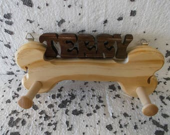 DOG LEASH HOLDER with any name.
