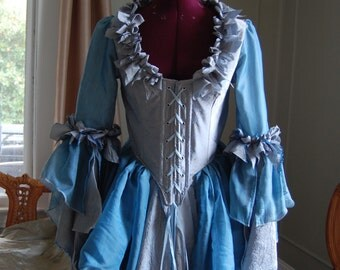 blue water fairy elf Marie Antoinette Victorian inspired rococo costume dress halloween pirate lass