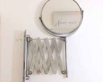 Vintage Chadwick Accordion Shaving Makeup Mirror